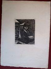 Eau-forte, Femme au manchon, v. 1900