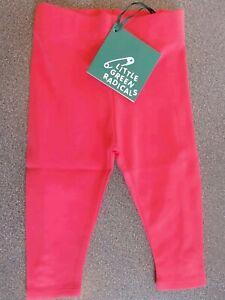 Little Green Radicals Organic Cotton Rose Pink Frill Leggings 2 3 4 5 6 7 8