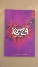 Souvenir Program - KOOZA Cirque Du Soleil