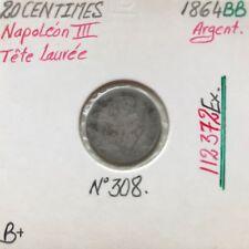 20 CENTIMES NAPOLEON III - 1864BB - Pièce de monnaie en Argent // B+