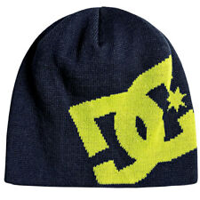 DC Shoes Men's Big Star Beanie Insignia Blue Headwear Snow Skii Gorro Sombrero