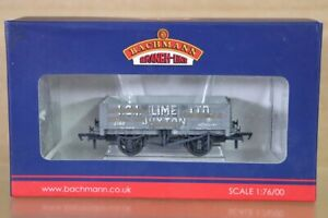 BACHMANN 37-040 WEATHERED ICI LIME BUXTON 5 PLANK WAGON 502686 & LOAD BOXED nt