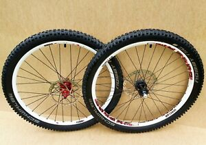 "DT SWISS EX 1750 26"" Wheels White QR Specialized Hubs / Mountain Downhill bike"