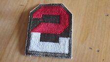 WW II US 2nd Army Olive Drab Patch