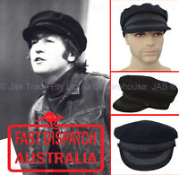 Wool Felt Bakerboy Greek Fisherman Military Music Band John Lennon Hat Cap S L