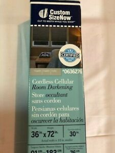 "LEVOLOR Room Darkening Cordless Cellular Shade, Graphite 36"" x 72"" #0636276"