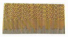"""50 DEWALT TITANIUM 7/64"""" HIGH SPEED STEEL DRILL BITS METAL GOLD HSS"""