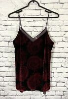 Free People Drippy Velvet Cami in Rich Plum Size Small