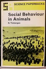 1965 Social Behavior in Animals by Nikolaas Tinbergen Science Paperbacks 150-pgs