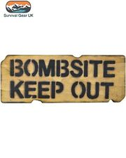 Bombsite Keep Out Wooden Wall/ Door Plaque/ Sign for Children's/ Kids Room