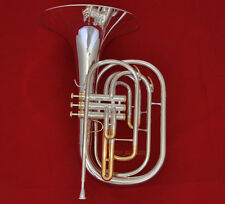 10% OFF Pro Silver Plated Marching French horn gold plated valves cup With Case