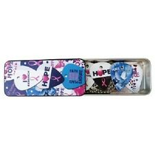Hot Picks Pink Ribbon Guitar Picks ABCF Tin with Necklace