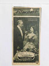 """Filmpost 54 """"Roman einer Tänzerin"""" Loretta Young & Conrad Veidt-cinema program"""