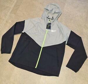 Nike Grey Black Neon Green Windbreaker RARE L