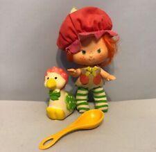1982 CHERRY CUDDLER Doll & GOOSEBERRY Pet Goose Duck Strawberry Shortcake