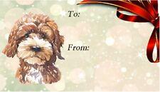 Cockapoo Dog Self Adhesive Gift Labels Design No. 1 by Starprint