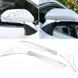 Fits Toyota Camry 18 19 Stainess Rearview Side Mirror Under Stripe Cover Trims