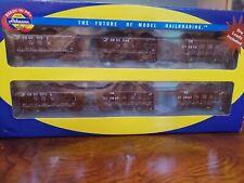 Athearn Ho 6 Gondola Small Ore Car Set Conrail Brown