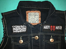 Marilyn Manson Girls' Denim Cut-Off Sleeveless Waistcoat Antichrist Superstar