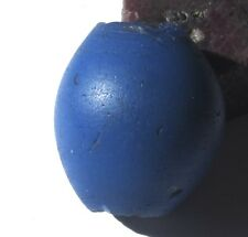 RARE VERY LARGE AMAZING OLD OVAL BLUE DUTCH DOGON ANTIQUE BEAD 27mm x 30mm
