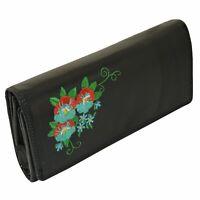 Nappa Leder Flower Leder Damen Geldbörse Buisness Brieftasche mit 17 Karten