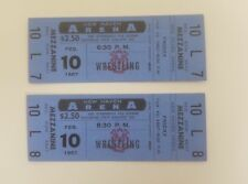 (2) 1967 Wrestling Full Tickets New Haven Arena