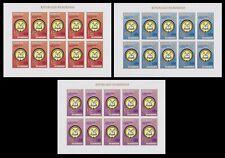 Burundi 1981 NATIONAL CONGRESS Stamp set - MNH Imperforate Full Sheets.....A6283