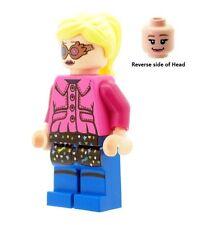 Custom progettato minifigura-LUNA LOVEGOOD in Rosa Stampato su parti Lego