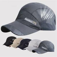 Adjustable Mesh Cap Quick-drying Baseball Trucker Golf Sports Breathable Hats