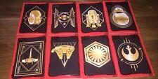 Star Wars The Last Jedi All 8 Gold Cards