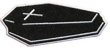Cercueil Coffin aufbügler/Embroidery patch # 1 - 10x4cm