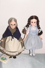 WIZARD OF OZ Dolls Dorothy and Auntie Em - 1980s EFFANBEE  - VTG