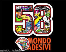 Adesivo 58 Marco Simoncelli Stickerbomb Adesivo moto Moto Gp 10 cm SIC SUPERSIC