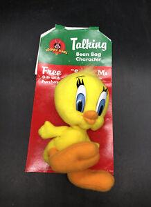 Tweety Bird Plush 1998 Talking Bean Bag Character Looney Tunes