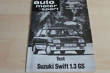 SV0936) Suzuki Swift 1.3 GS AMS Sonderdruck 25/1984