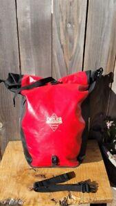 SINGLE Ortlieb Classic Back-Roller Bicycle Bag Pannier Red/Black Waterproof