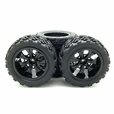 1:10 Rc Monster Truck Car Wheel Type Tires with 7 Spokes Wheel Rim Black Rc