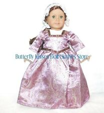 Colonial Gown+Mob Cap 18 in Doll Clothes Fits American Girl