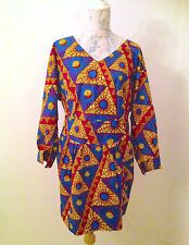 African Print Dress London Designer Sample Sale - UK 10 - Free UK Post - NEW