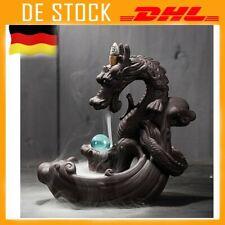 Keramik Drache Rauch Wasserfall Rückfluss Weihrauch Burner Räuchergefäß DE