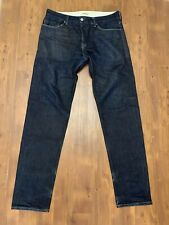 LEVIS Made & Crafted Tapered Leg Men's Blue Selvedge Jeans Sz 32x34 Distressed