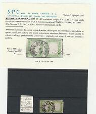 FRANCOBOLLI 1859 SARDEGNA COPPIA C. 5 VERDE GIALLO Z/2214