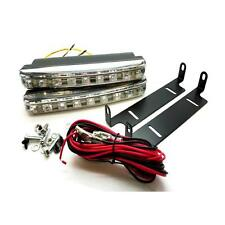 2 x 16cm 8 SMD Dual Function DRL With Amber Indicator 6000k White - Nissan