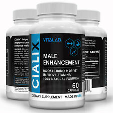 Cialix Male Enhancement Pills Bigger Libido Performance Boost Drive Stamina 60ct