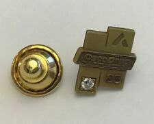 Vtg Osco Drug Store 25 Year Employee Award Gold Filled Pin with Diamond A4-66