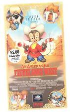 An American Tail - Fievel Goes West VHS vintage 1992 James Stewart John Cleese