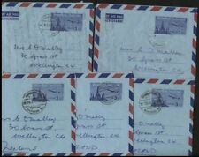 THAILAND POSTAL STATIONERY 3B AEROGRAMME 1963/4 x5 TO NEW ZEALAND (ID:689/D29324