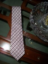 new TOM FORD violet checked silk / wool power neck tie Italy $250 Neiman