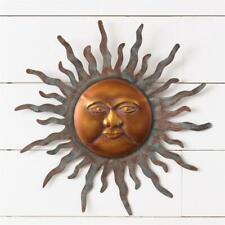 """Sun Metal Wall Art Garden Sculpture 3D Wall Decor 16"""" Wall Hanging Sun Face"""