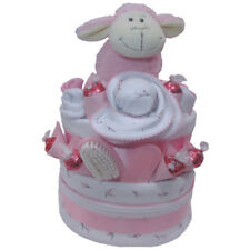 Nappy Cake New Born Baby Girl Just Mum & Me Precious Gift